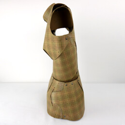 Very Decorative Mannequin or Tailor's Dummy Made of Checkered Thick Cardboard