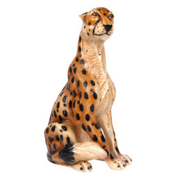 Hollywood Regency Ceramic Jaguar Attributed to Ronzan
