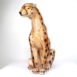 Hollywood Regency Ceramic Jaguar Attributed to Ronzan