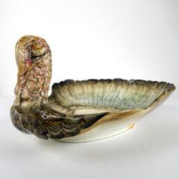 Mid-Century Modern Large Italian Ceramic Turkey Platter Signed by R. Blanche