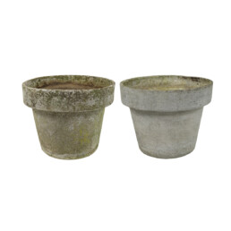 Pair of Large Planters in the Shape of Flower Pots by Willy Guhl for Eternit