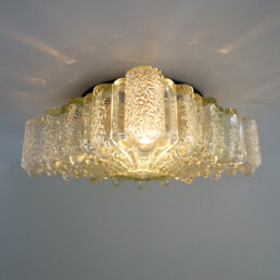Hollywood Regency Square Glass Flushmount or Sconce by RZB Leuchten