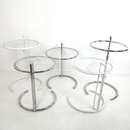 Modernist Chrome Tubular Side Table E1027 by Eileen Gray for Classicon