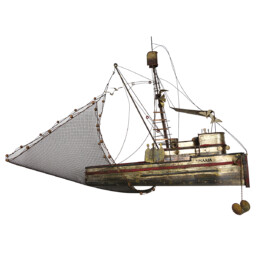 Hollywood Regency Extra Large Brass Fishing Boat