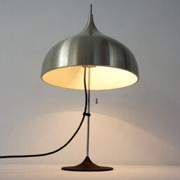 Mid-Century Modern Silver Colored Mushroom Shaped Table Lamp by Doria