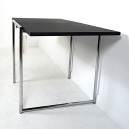 "Modernist Chrome Framed Fold-Out Table ""Jean"" by Eileen Gray for Alivar"