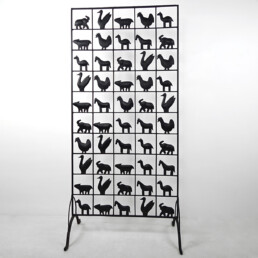 Mid-Century Modern Wrought Iron Screen or Room Divider by Atelier de Marolles
