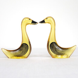 Mid-Century Modern Pair of Geese in Lucite Made by Abraham Palatnik