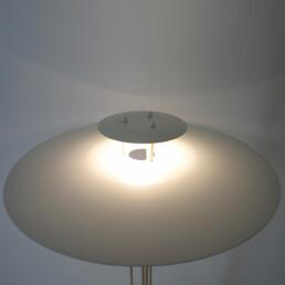 Mid-Century Modern White Steel Floor Lamp by Danish Maker Frandsen