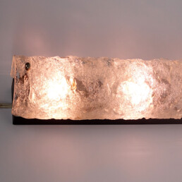 Mid-Century Modern XL Glass 3-Light Sconce in the Style of Kalmar