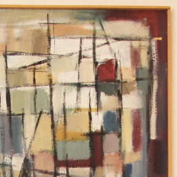 Major Constructivist Oil on Canvas Painting by Dutch Artist Estella den Boer