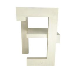 "Modernist White Wooden Chair ""Steltman"" Designed by Gerrit Rietveld"