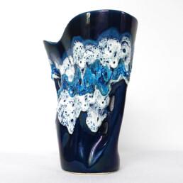Mid-Century Modern Blue Vase by French Ceramics Specialist Vallauris