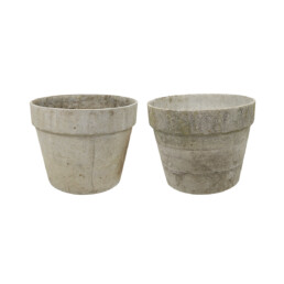 Pair of Planters in Flower Pot Shape with Ribbed Rims by Willy Guhl for Eternit